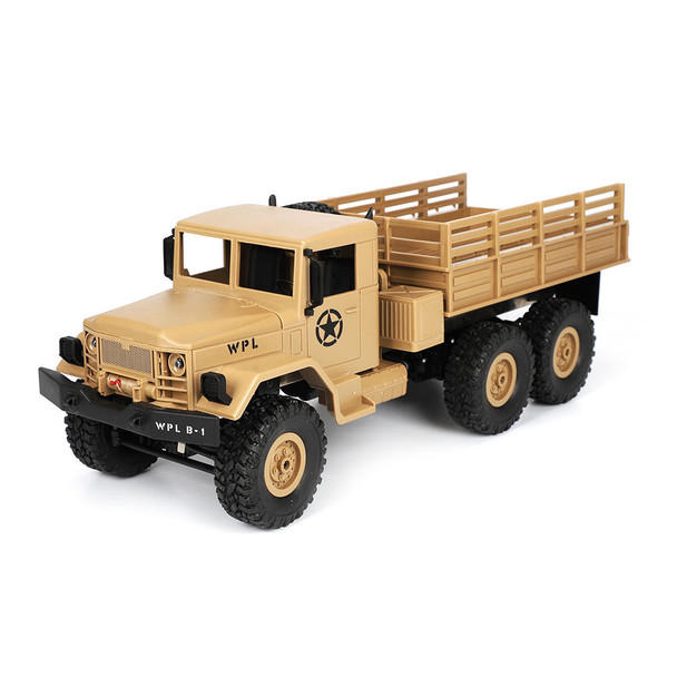 1/16 RC Military Truck 6x6 Offroad Truck LED + Suspension RTR Yellow