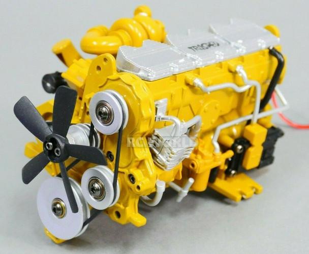 1/12 Scale C-7 Caterpillar ENGINE Model Diecast w/ Internal Fan Motor