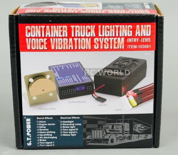 G.T Power 1/10 Truck LIGHTING + SOUND + VIBRATION System For Diesel Semi Trucks