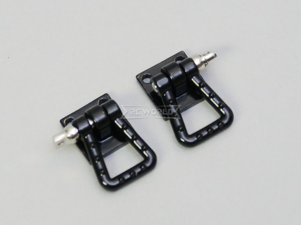 1/10 Scale Truck Accessories Metal Anchor Wide Shackle Plate Black