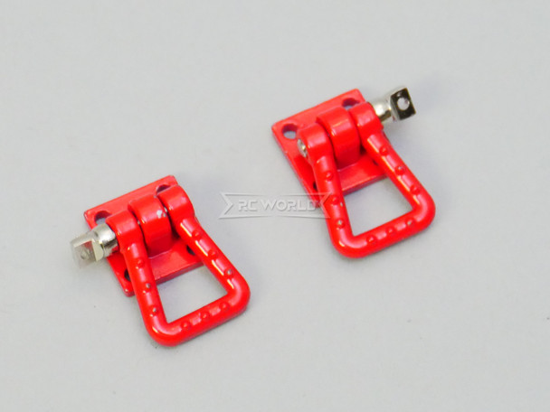 1/10 Scale Truck Accessories Metal Anchor Wide Shackle Plate Red