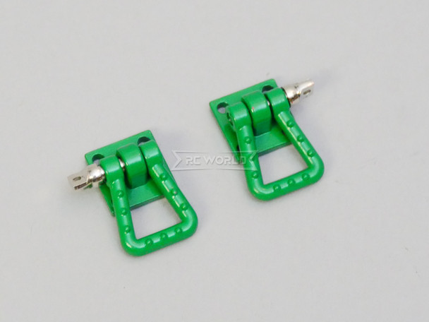 1/10 Scale Truck Accessories Metal Anchor Wide Shackle Plate Green
