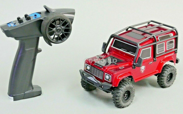 RC 1/24 Micro Land Rover D90 4X4 RC Rock Crawler *RTR* Red