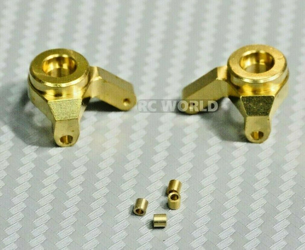 Axial SCX24 Front METAL Steering Knuckles BRASS 6.8G Each (2pcs)