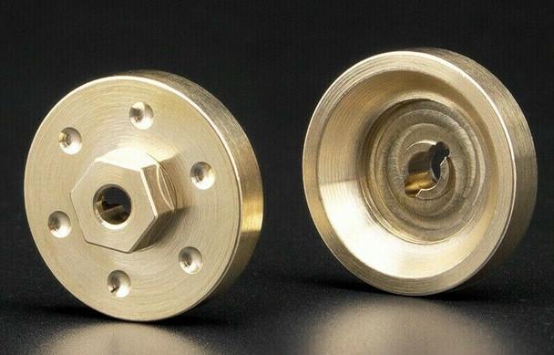 Axial SCX24 Front Metal HUBS BRASS 6.8G Each (2pcs)