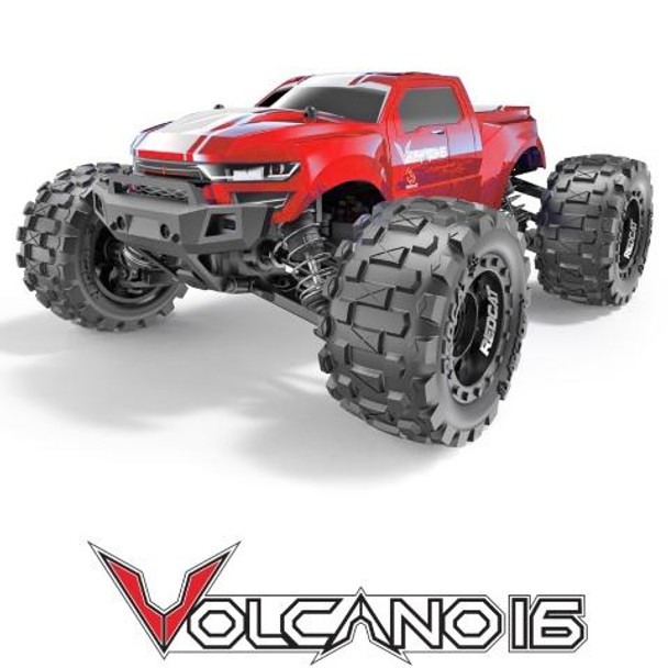 RC 1/16 Volcano Mini Monster Truck 4WD 2.4ghz -RTR- Red