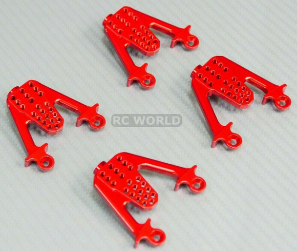 For Axial SCX10 Jeep Honcho METAL Shock Tower Brackets RED (4pcs)