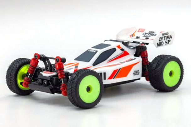 Kyosho RC Mini Z BUGGY Optima Mid Turbo 4WD -RTR- WHITE 32092W
