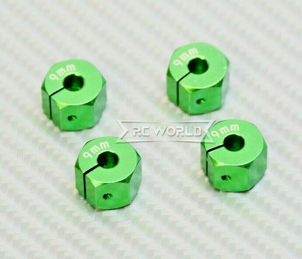 1/10 Anodized Aluminum 9MM WHEEL Spacer 12MM HUB -4 pcs- GREEN