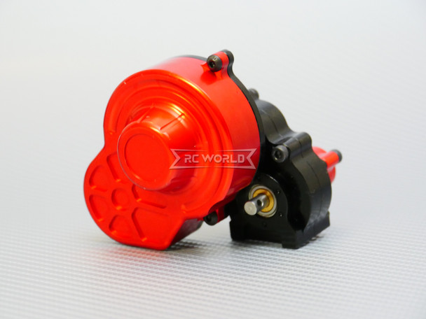 For Axial SCX10 GEARBOX Transmission w/ Metal Gears * SEALED* Reverse Torque -BLACK-