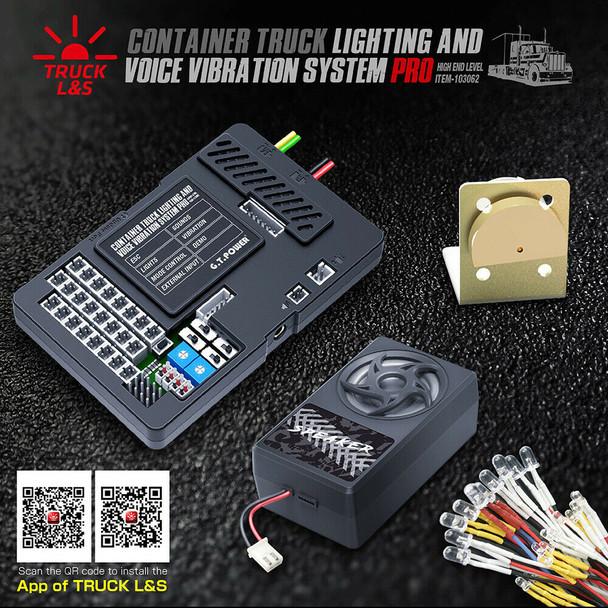 G.T Power 1/10 Truck LED + Engine Sounds + Vibration System Semi Trucks - PRO -