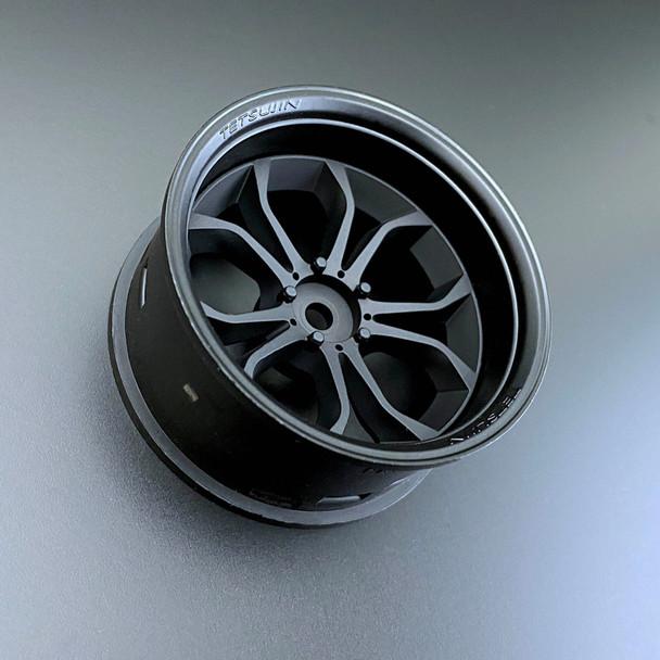 Tetsujin DEEP SPIDER RC Car 1/10 Wheels BLACK Adjustable Offset 3-6-9mm -4 RIMS