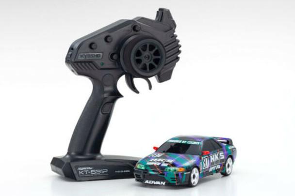 Kyosho RC Mini Z Nissan Skyline GTR R32 HKS AWD Drift -RTR-