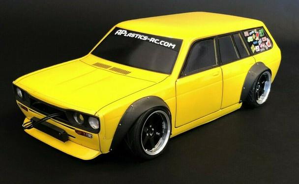 1/10 Body Shell Datsun 510 Wagon W/ Wide Body Kit Body 220mm *Clear*