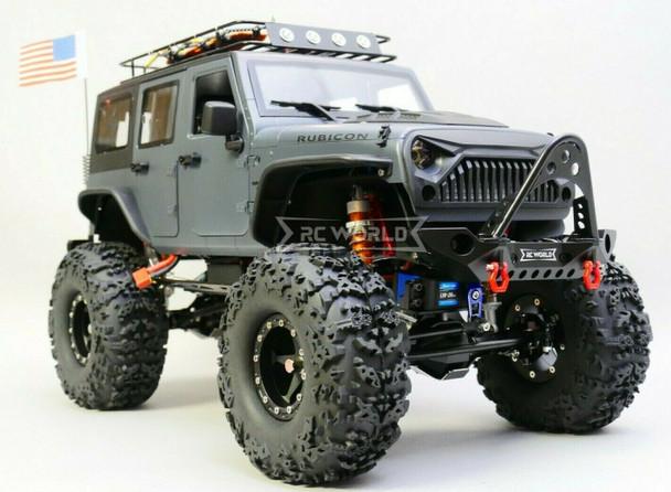 Custom Built 1/10 RC Jeep Wrangler Rubicon 2.2 Truck w/ LED 2- Speed 11.1V *RTR*
