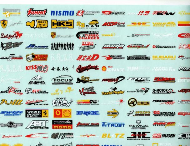 "RC Car Truck RACING Drift DECALS STICKERS Logos Sponsors 14""x9"""