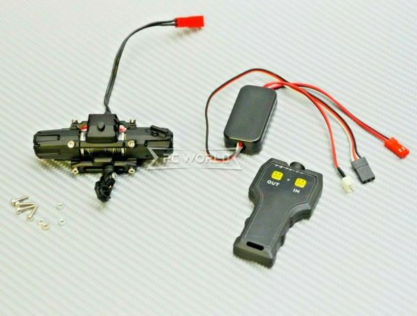 RC Scale 10KG DUAL MOTOR WINCH W/ Wireless 2.4GHZ Controller BLACK
