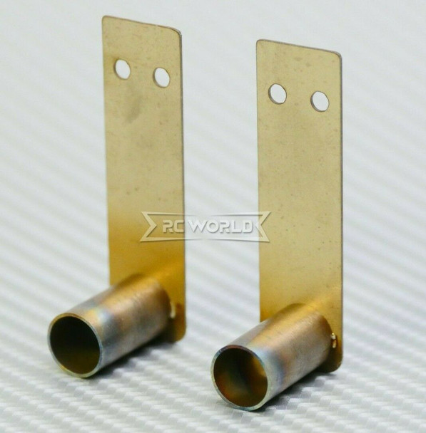1/10 RC Metal EXHAUST Pipes Double Muffler 10mm Pipe (2pcs)