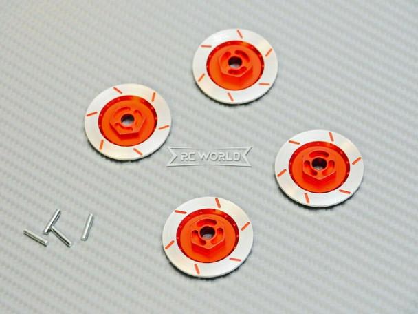 1/10 Aluminum SCALE DISK ROTORS Scale Accessories (4) Pcs Set - RED