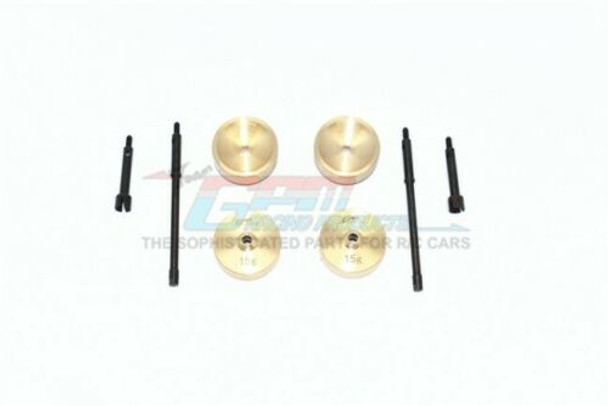 GPM For Axial SCX24 Upgrade Heavy BRASS Axle Weights 15G Each (4pc)