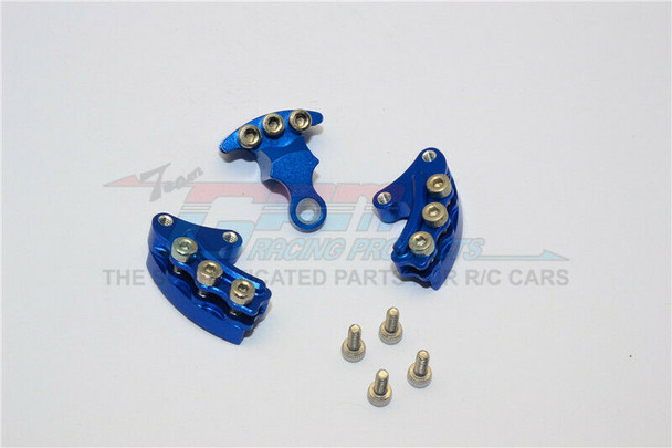 GPM Front + Rear BRAKE CALIPERS For Kyosho HOR Bike #KM007-BLUE -