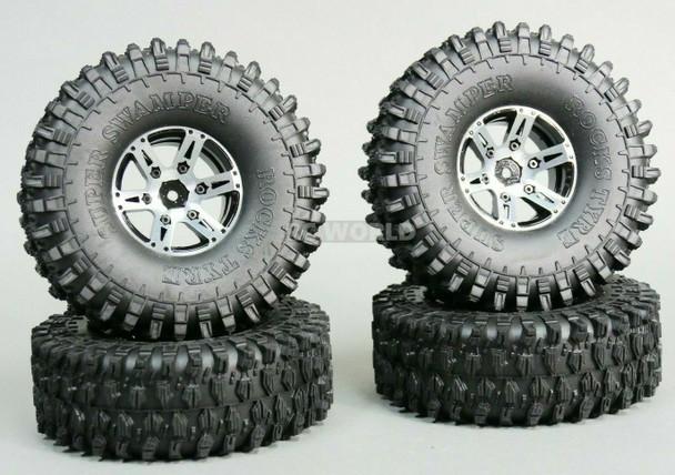 RC 1/10 Truck METAL Wheels 1.9 Beadlock W/ 120mm Tires -Assembled- (4pcs)