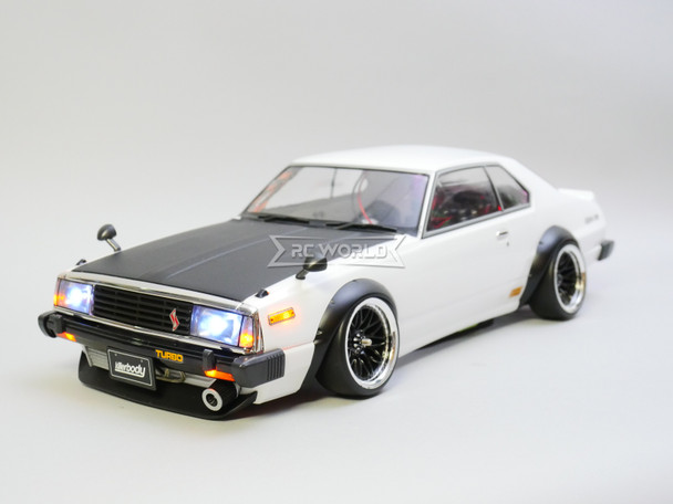 Custom 1/10 Yokomo RC Nissan Skyline HT 2000 Turbo RWD Drift W/ L.E.D Lights W/ Gyro - RTR