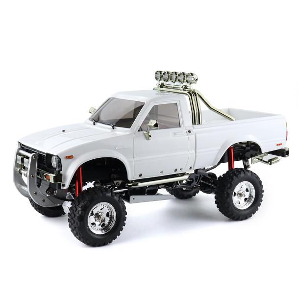 RC 1/10 Toyota Pickup Truck BRUISER Hard Body Shell W/ Nerf Bars WHITE