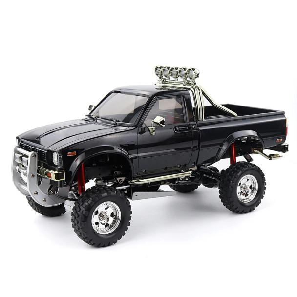 RC 1/10 Toyota Pickup Truck BRUISER Hard Body Shell W/ Nerf Bars BLACK