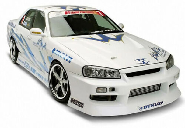 1/10 RC Body Shell Nissan Skyline ER34 200mm - CLEAR -