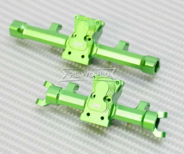GPM Axial SCX24 METAL AXLES Front + Rear Upgrade Aluminum (2pcs) GREEN