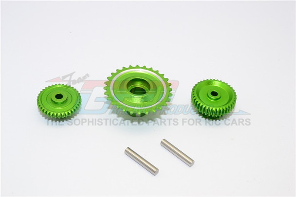 GPM Aluminum Gears For HOR RC Bike 52T 53T 55T (3PCS) -GREEN-