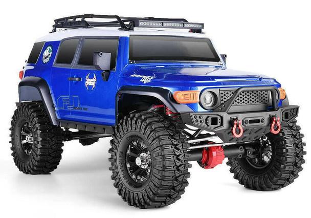 1/10 RC Truck TOYOTA FJ Truck 4x4 RTR 313mm w/ LED Lights BLUE