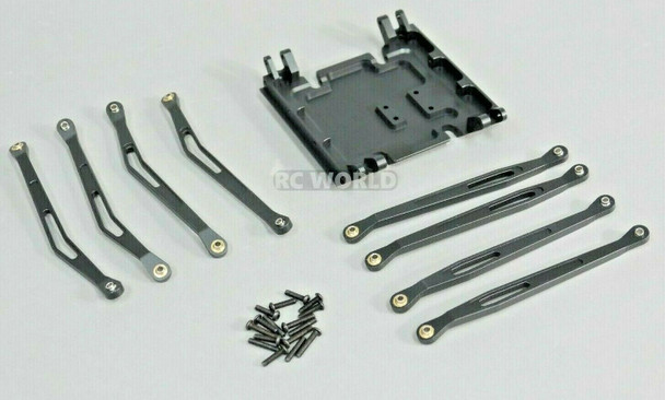 Axial Wraith Metal SKID PLATE + Front & Rear Trailing Arms -BLACK-