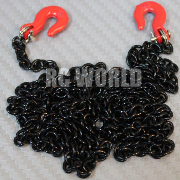 """RC 1/10 Scale Truck Accessories METAL Black CHAIN W/ HOOKS Tow Cable 36"""" Long"""