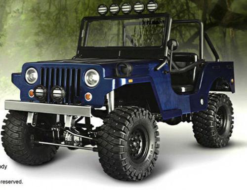 rc truck body shell 1 10 sawback sports jeep wrangler willys