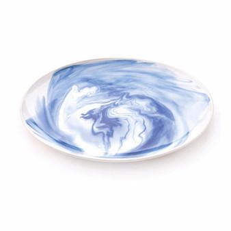 Marble Indigo Platter - Large