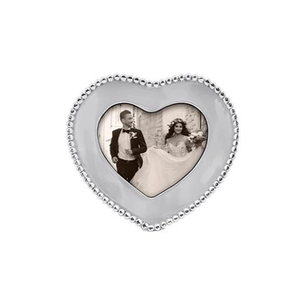 Beaded 4x6 Heart Picture frame