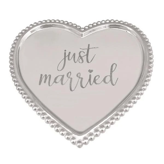 Just Married Heart Tray
