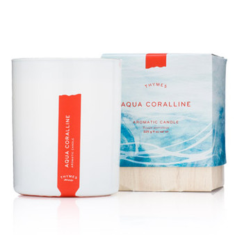Aqua Coralline Poured Candle
