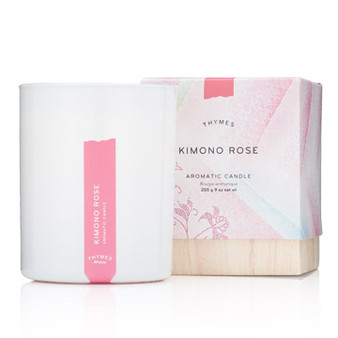 Kimono Rose Poured Candle