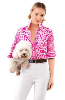 Boyfriend Shirt Pink Arabesque