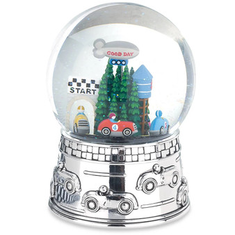 Race Car Musical Water Globe