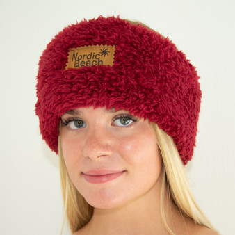 Nordic Beach Head Wrap - Red Velvet