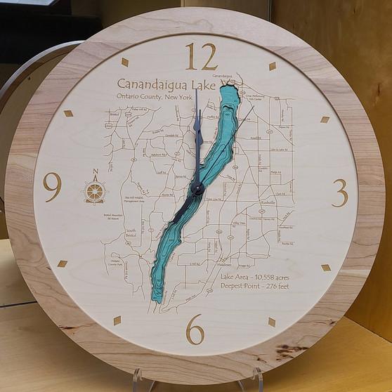 Canandaigua Lake Multi Depth Clock