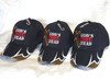 3 Pack Blue GOD IS NOT DEAD HE IS SURELY ALIVE CHRISTIAN HAT BASEBALL CAP Isaiah 40:28