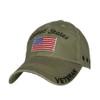 US Military Veteran - U.S. Military with Flag Khaki Baseball Cap Hat