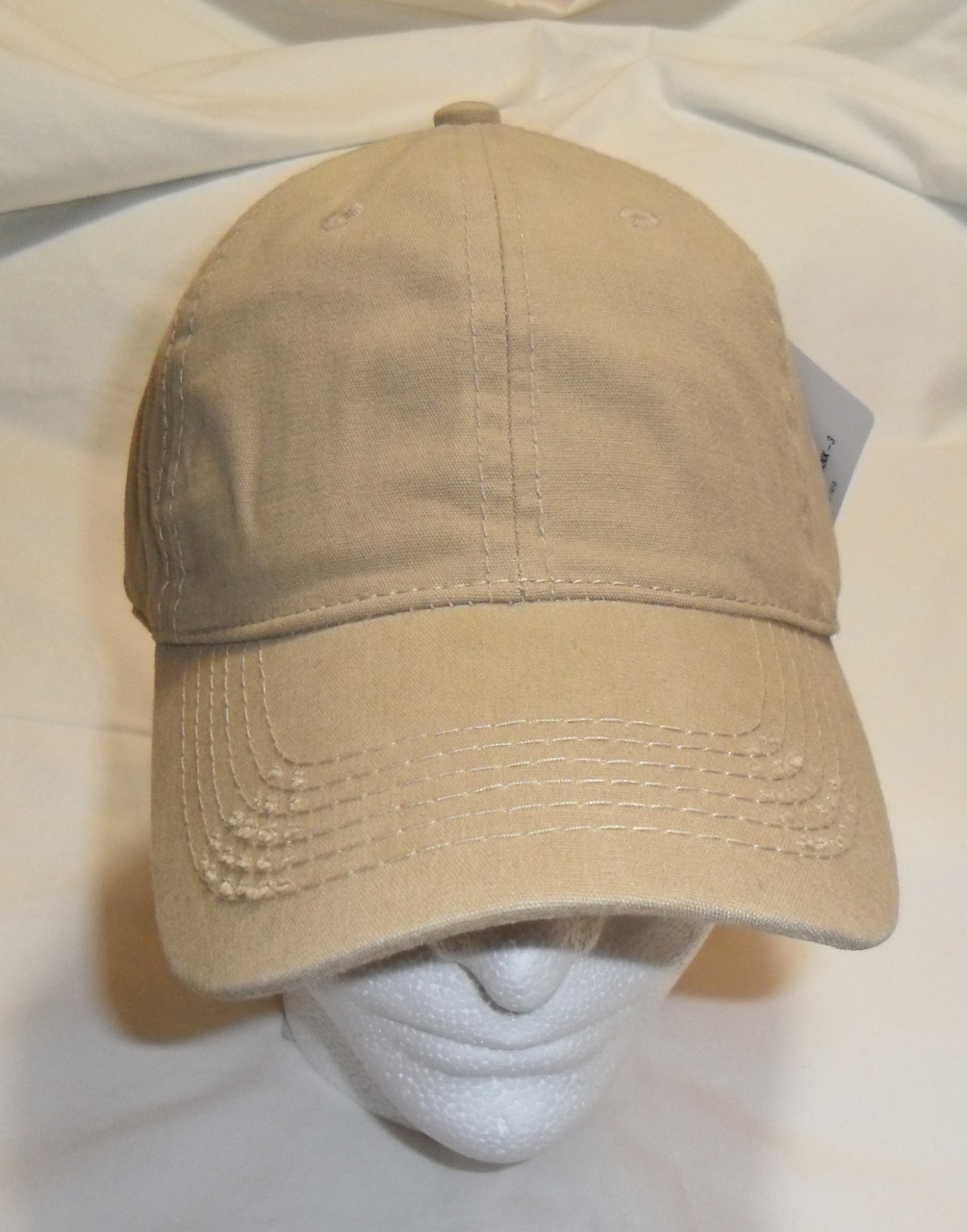 4c3124f7009 Khaki Vintage Distressed Retro Polo Unstructured Baseball Cap Golf Hat Hats  Caps