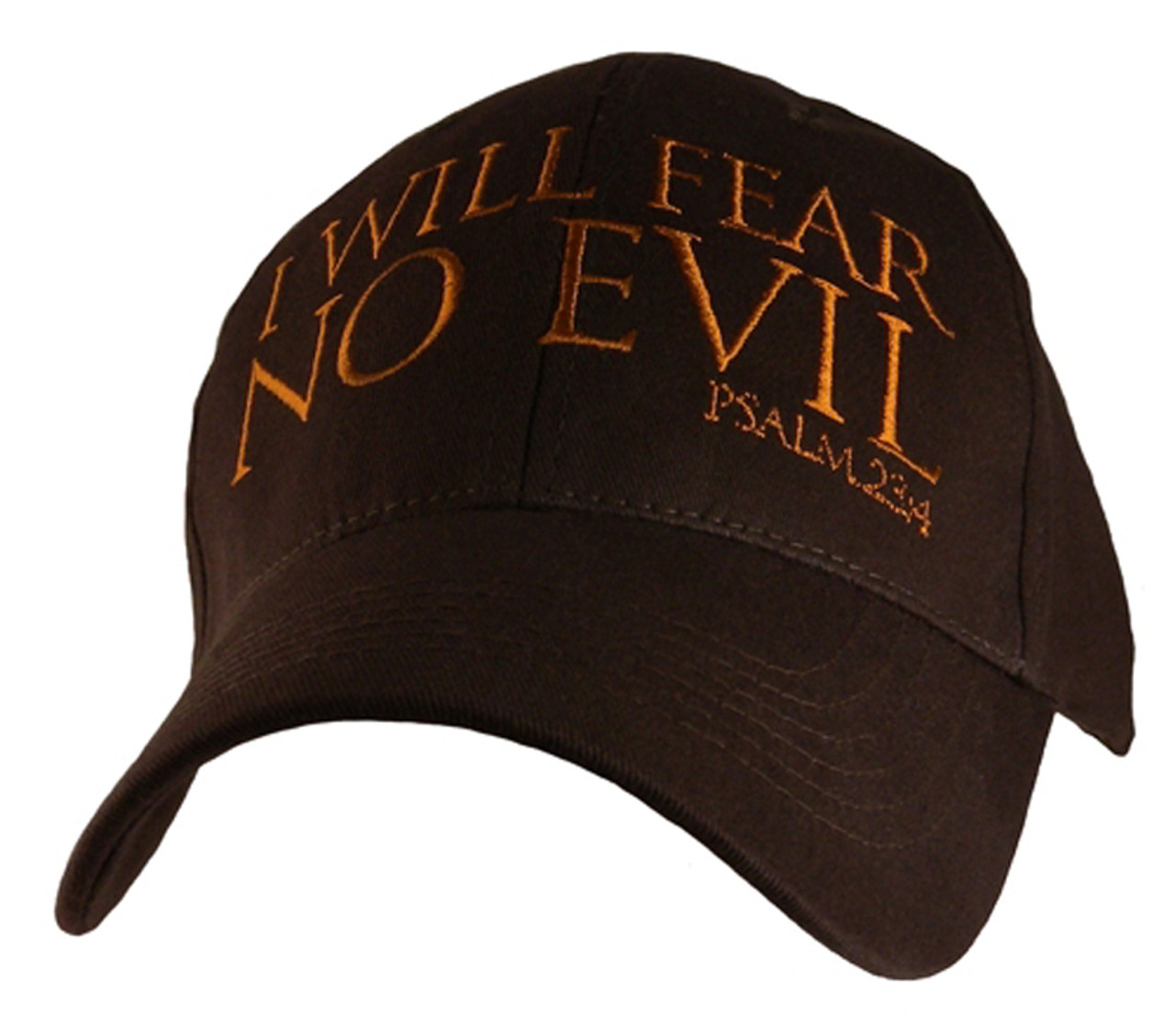 8b90ed3aedc I Will Fear No Evil For Thou Art With Me Psalm 23 4 Christian Hat Baseball  Cap