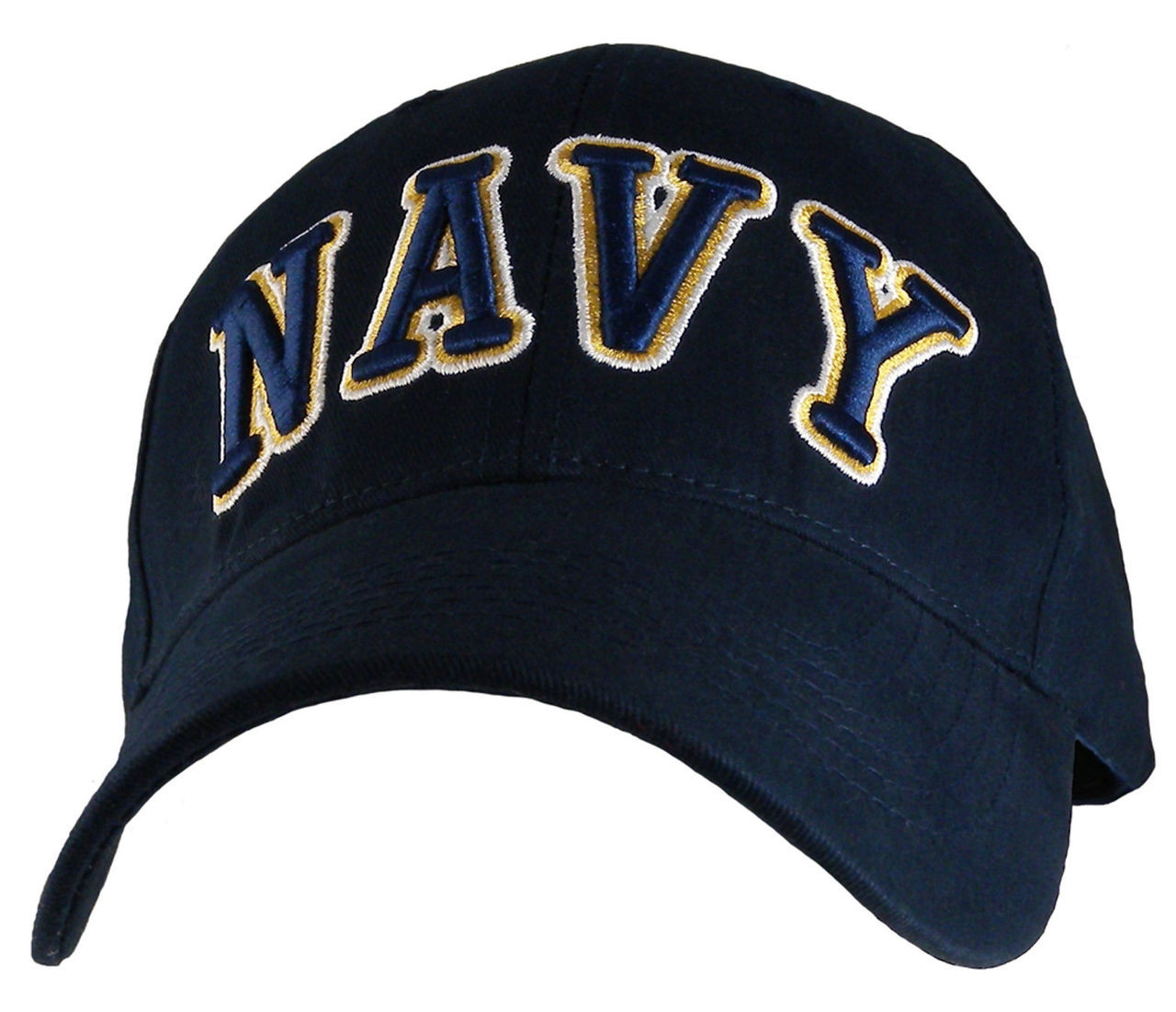 a660923a8 U.S. Navy Embroidered Letters Officially Licensed Military Hat Baseball Cap